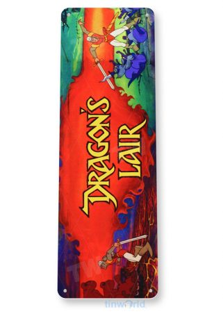 tin sign b027 dragon's lair arcade game room marquee sign retro console tinworld tinsign_com