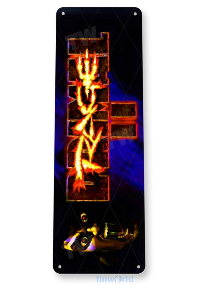 tin sign b035 primal rage ii 2 arcade game room marquee sign retro console tinworld tinsign_com