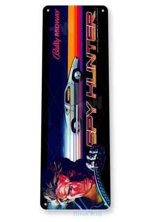 tin sign b037 spy hunter arcade game room shop marquee sign retro console tinworld tinsign_com