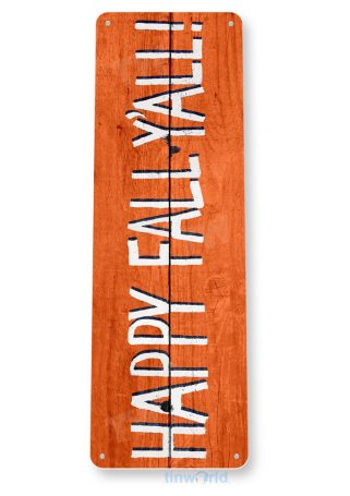 tin sign b047 happy fall rustic pumpkin sign halloween thanksgiving cottage cave tinworld tinsign_com