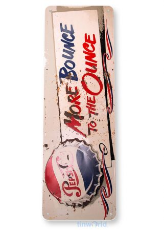 tin sign b051 pepsi bounce ounce rustic cola soda store sign kitchen cottage cave tinworld tinsign_com
