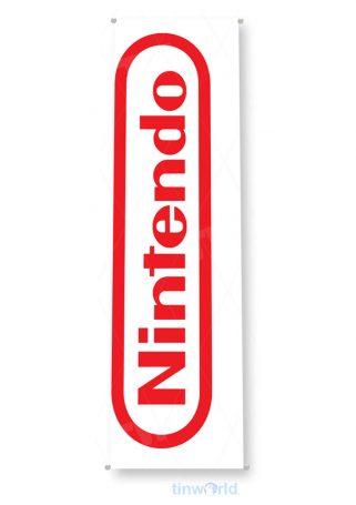 tin sign b187 nintendo entertainment system nes retro games white tinworld tinsign_com