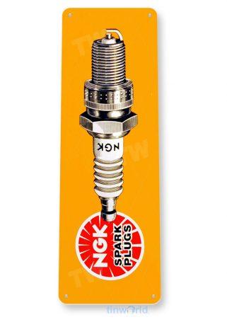 tin sign b188 nkg spark plug sign auto shop garage cave tinworld tinsign_com