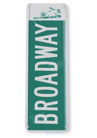 tin sign b222 broadway street sign new york liberty cottage bar cave tinworld tinsign_com