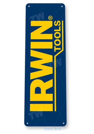 tin sign b233 irwin tools auto shop store sign garage toolbox cave tinworld tinsign_com