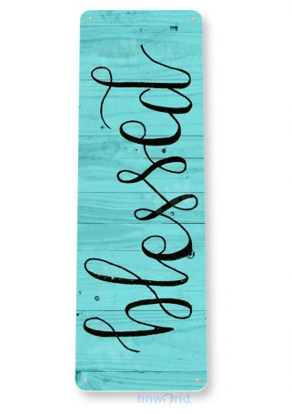 tin sign b285 blessed rustic kitchen cottage beach lake house farm sign tinworld tinsign_com