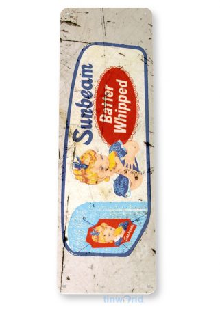 tin sign b388 sunbeam whipped bread retro rustic store sign kitchen cottage farm tinworld tinsign_com