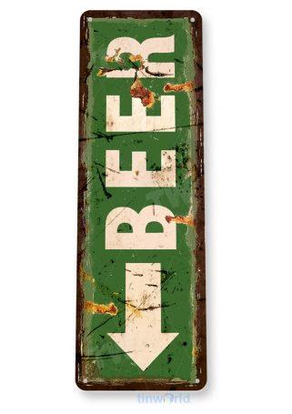 tin sign b402 beer arrow rustic bar pub sign kitchen cottage garage cave tinworld tinsign_com