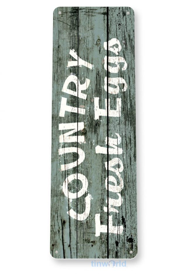tin sign b488 country fresh eggs rustic cottage farm hen house chicken coop sign tinworld tinsign_com