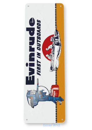 tin sign b560 evinrude outboard motors retro boating fishing marina store sign tinworld tinsign_com