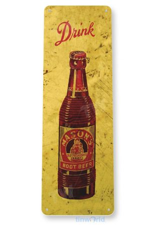 tin sign b575 masons root beer retro rustic cola store sign kitchen cottage cave tinworld tinsign_com