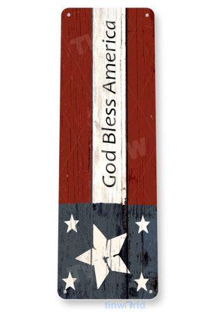 tin sign b613 god bless america patriotic flag usa flag cottagevfarm cave tinworld tinsign_com
