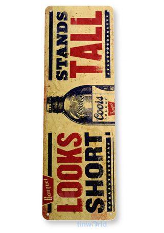 tin sign b660 coors short tall rustic retro beer bar sign garage shop pub tinworld tinsign_com