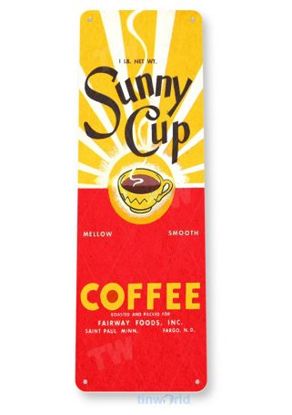 tin sign b699 sunny cup retro coffee sign bar kitchen cottage coffee shop tinworld tinsign_com