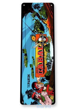 tin sign b708 cabal arcade game room shop marquee sign retro console tinworld tinsign_com