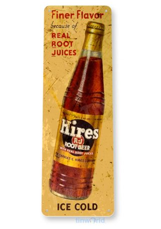tin sign b723 hires root beer retro rustic bottle cola store sign kitchen cottage cave tinworld tinsign_com