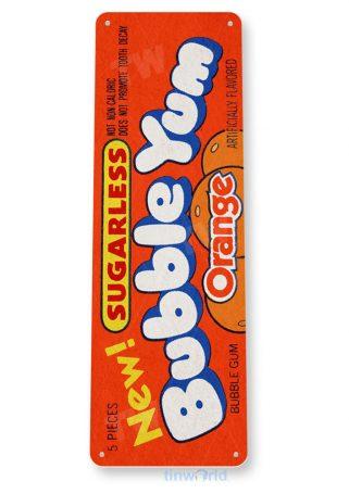 tin sign b735 orange bubble yum gum gum retro chewing gum store sign cottage cave tinworld tinsign_com