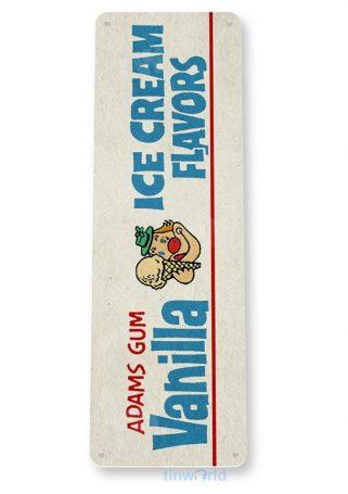 tin sign b744 vanilla ice cream gum gum retro chewing gum store sign cottage caveo tinworld tinsign_com