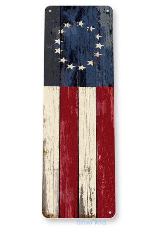 tin sign b750 american centennial flag rustic patriotic independence flag cottage farm tinworld tinsign_com