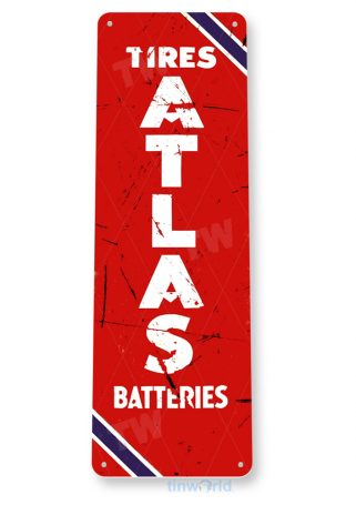 tin sign b751 atlas tires batteries rustic garage auto shop store sign tinworld tinsign_com