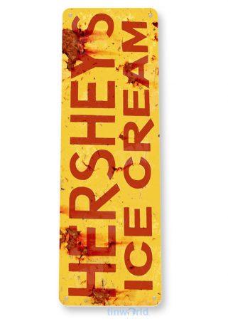 tin sign b770 hersheys ice cream rustic retro ice cream parlor sign kitchen cottage tinworld tinsign_com