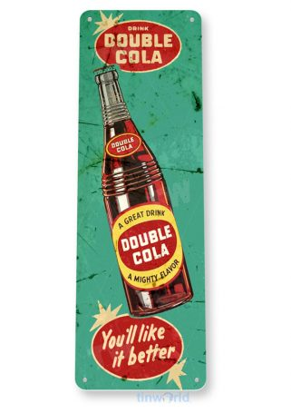 tin sign b813 double cola bottle retro rustic cola store sign kitchen cottage cave tinworld tinsign_com