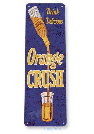 tin sign b814 drink orange crush retro rustic cola store sign kitchen cottage cave tinworld tinsign_com