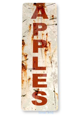 tin sign b842 rusty apples rustic kitchen cottage cabin farm garden store market sign tinworld tinsign_com