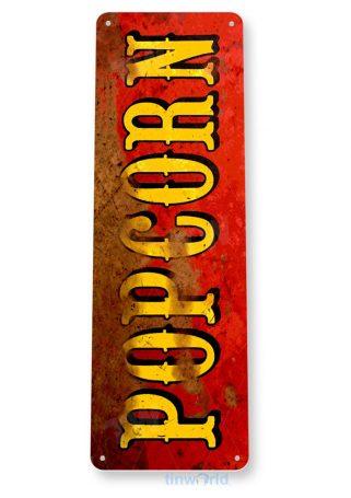tin sign b899 popcorn red rust pop corn machine movie home theater sign tinworld tinsign_com