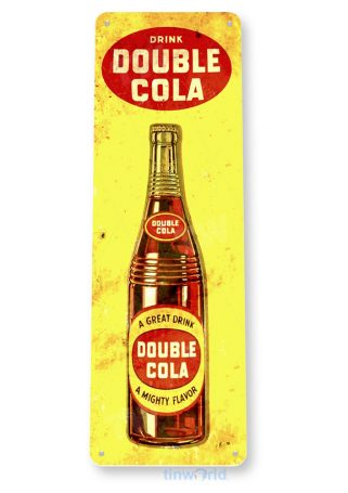 tin sign b922 double cola retro rustic cola store sign kitchen cottage cave tinworld tinsign_com