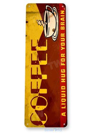 tin sign b972 coffee liquid hug rustic retro coffee shop sign kitchen cottage cafe farm tinworld tinsign_com