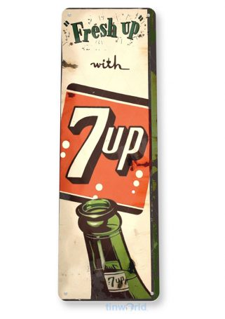 tin sign b991 fresh up 7up cola retro rustic soda store sign kitchen cottage cave tinworld tinsign_com