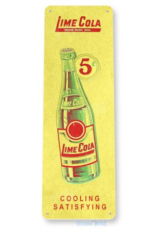 tin sign c020 lime cola soda retro soda store sign kitchen cottage tinworld tinsign_com