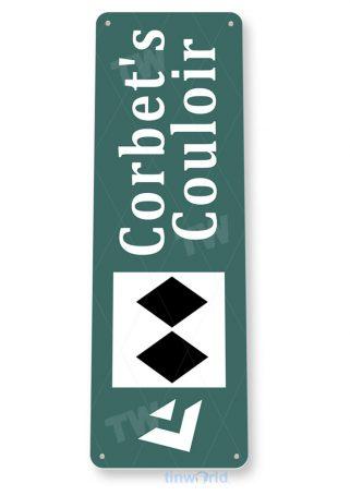 tin sign c082 corbets couloir rustic snow ski slope sign skiing cabin resort lodget tinworld tinsign_com
