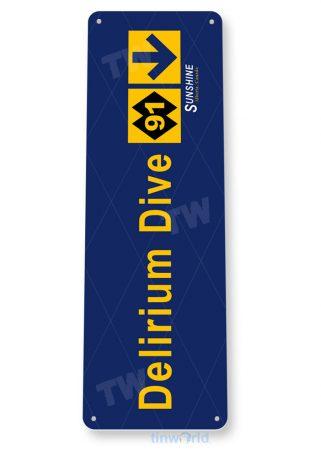 tin sign c083 delirium dive rustic snow ski slope sign skiing cabin resort lodget copy tinworld tinsign_com