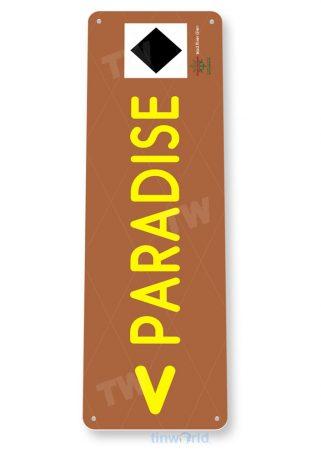tin sign c134 paradise mad river rustic snow ski slope sign skiing cabin resort lodge copy tinworld tinsign_com
