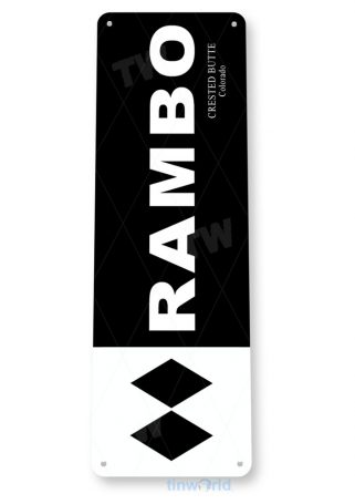 tin sign c142 rambo crested butte colorado rustic snow ski slope sign skiing cabin resort lodge copy tinworld tinsign_com