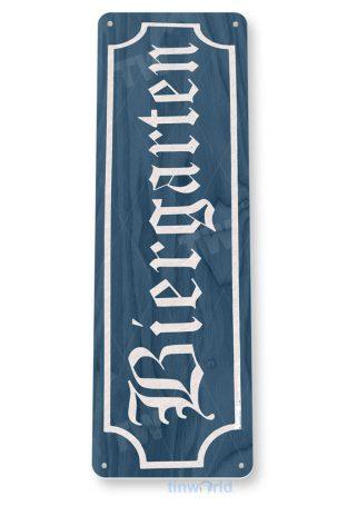 tin sign c189 bier garten blue rustic retro bar pub beer brewery sign cottage cave tinworld tinsign_com