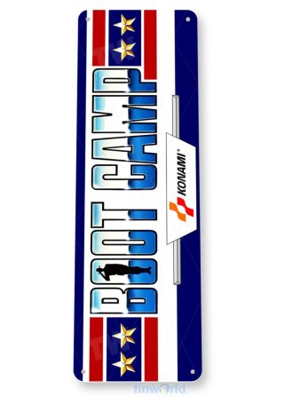 tin sign c457 boot camp arcade game room shop marquee sign retro console tinworld tinsign_com