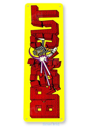 tin sign c458 break out arcade game room shop marquee sign retro console tinworld tinsign_com