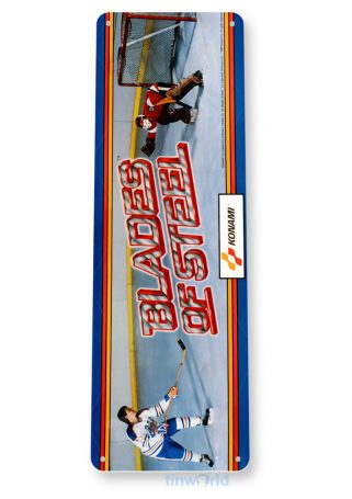 Blades-Of-Steel Arcade Sign C461 is a new, reproduction tin sign. TinWorld offers a large selection of arcade signs at wholesale prices. Made in the USA!