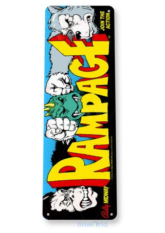 tin sign c497 rampage arcade game room shop marquee sign retro console tinworld tinsign_com