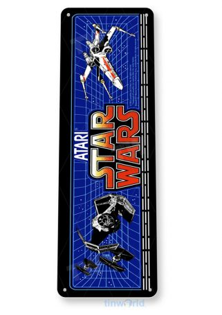 tin sign c504 star wars arcade game room shop marquee sign retro console tinworld tinsign_com