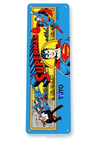 tin sign c506 superman arcade game room shop marquee sign retro console tinworld tinsign_com