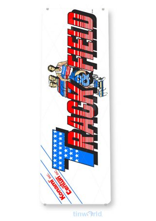 tin sign c510 track& field arcade game room shop marquee sign retro console tinworld tinsign_com