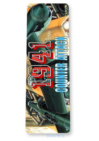 tin sign c584 1941 counter attack arcade game room mame marquee sign retro classic gaming console tinworld tinsign_com