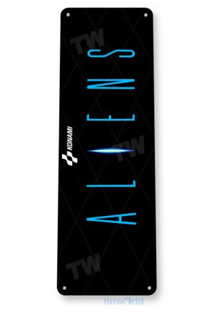 tin sign c599 aliens arcade game room mame marquee sign retro classic gaming console tinworld tinsign_com