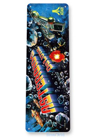 tin sign c612 asteroids deluxe arcade game room mame marquee sign retro classic gaming console tinworld tinsign_com