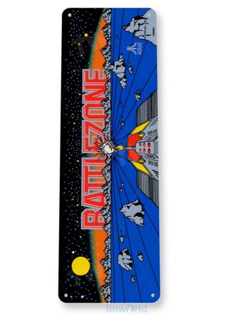 tin sign c619 battlezone arcade game room mame marquee sign retro classic gaming console tinworld tinsign_com