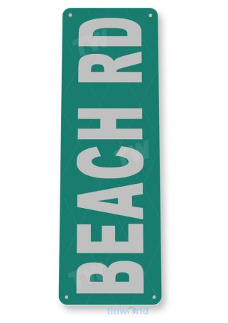 tin sign c655 beach road sign lake beach sign house cottage cabin cave tinworld tinsign_com